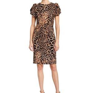 CALVIN KLEIN Animal Print Dress Size 8